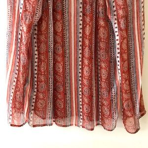 Lucky Brand Tops - Lucky Brand orange/brown print blouse - Size XS